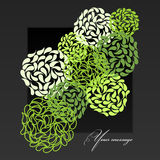 Projeto floral abstrato do fundo Imagem de Stock Royalty Free