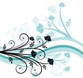 Projeto floral azul Fotografia de Stock Royalty Free