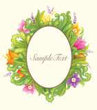 Projeto floral bonito do círculo Imagens de Stock
