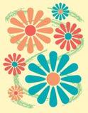 Projeto floral brilhante ilustração stock