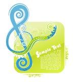 Projeto floral chave do violino Imagens de Stock Royalty Free