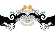 Projeto floral curly abstrato ilustração stock