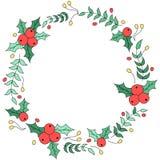 Projeto floral da grinalda do Natal Imagens de Stock Royalty Free