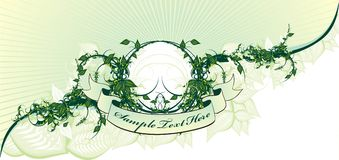 Projeto floral decorativo da tampa ilustração stock
