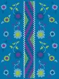 Projeto floral do bordado Imagens de Stock Royalty Free