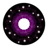 Projeto floral do círculo Imagens de Stock Royalty Free
