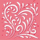 Projeto floral do coração Imagens de Stock