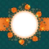 Projeto floral do frame de Rosa Ilustração Royalty Free