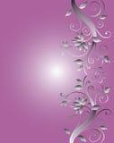 Projeto floral do frame para o casamento ilustração royalty free