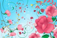 Projeto floral do fundo Fotos de Stock