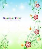 Projeto floral do fundo - beleza conservada em estoque da decoração da arte Imagem de Stock
