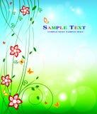 Projeto floral do fundo - beleza conservada em estoque da decoração da arte Imagens de Stock Royalty Free