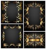 Projeto floral do papel de parede dos frames Foto de Stock