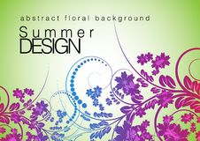 Projeto floral do sumário do fundo Imagem de Stock Royalty Free