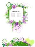 Projeto floral do vetor de Grunge. Fotografia de Stock Royalty Free