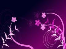 Projeto floral do vetor dos redemoinhos Fotos de Stock Royalty Free
