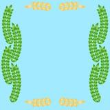 Projeto floral e do trigo das orelhas das beiras Fotografia de Stock