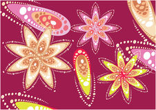 Projeto floral gráfico Foto de Stock Royalty Free