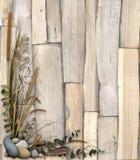 Projeto floral orgânico 1 do fundo Fotografia de Stock Royalty Free