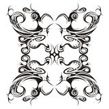 Projeto floral simétrico Foto de Stock Royalty Free