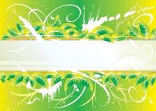 Projeto floral verde do grunge Foto de Stock Royalty Free