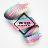 projeto fluido líquido do sumário 3d Curso torcido colorido da escova, Imagens de Stock Royalty Free