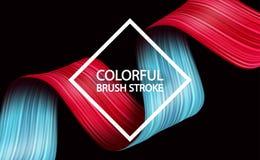 projeto fluido líquido do sumário 3d Fundo moderno colorido Fotos de Stock Royalty Free