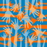 Projeto Funky do teste padrão da mão. Imagens de Stock Royalty Free