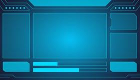 Projeto futurista do fundo do vetor do sumário da tecnologia da relação ilustração stock