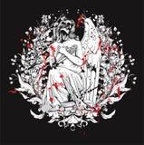 Projeto gótico do t-shirt Fotos de Stock