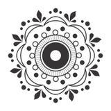 Projeto geométrico 2018 do vetor do teste padrão da verificação, testes padrões das mandalas ilustração royalty free