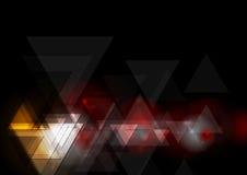 Projeto geométrico escuro abstrato da tecnologia Imagens de Stock