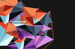 Projeto geométrico poligonal, forma abstrata feita dos triângulos, fundo na moda Imagens de Stock Royalty Free