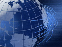 Projeto global do fundo das telecomunicações Fotos de Stock