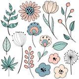 Projeto gráfico da flor fotos de stock royalty free