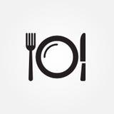 Projeto gráfico da ilustração do ícone do vetor do serviço de alimentação ilustração do vetor