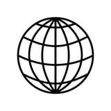 Projeto gráfico da ilustração global do símbolo da esfera isolado no fundo branco Fotos de Stock