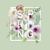 Projeto gráfico da mola floral Imagens de Stock Royalty Free