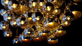 Projeto gráfico de luzes de teto fotografia de stock royalty free