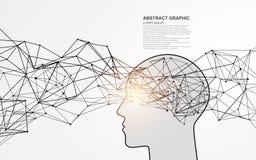 Projeto gráfico do cérebro abstrato ilustração stock