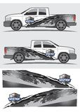 Projeto gráfico do decalque do caminhão e do veículo Imagens de Stock