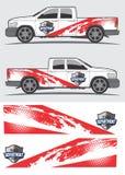 Projeto gráfico do decalque do caminhão e do veículo Foto de Stock Royalty Free