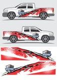 Projeto gráfico do decalque do caminhão e do veículo Imagens de Stock Royalty Free