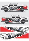 Projeto gráfico do decalque do caminhão e do veículo Imagem de Stock