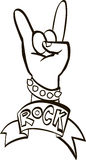 Projeto gráfico do hard rock, ilustração do vetor Foto de Stock Royalty Free