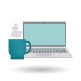 Projeto gráfico do portátil, ilustração do vetor Imagem de Stock Royalty Free