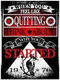 Projeto gráfico do vetor da camisa do homem T do slogan do vintage Fotos de Stock Royalty Free