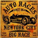 Projeto gráfico do vintage clássico retro do carro ilustração do vetor