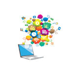Projeto gráfico dos trabalhos em rede de uma comunicação imagem de stock royalty free