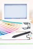 Projeto gráfico e conceito da impressão Imagens de Stock